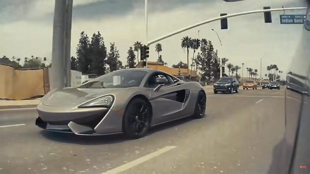 McLaren 570S street racing a Tesla Model 3 Performance (video in article).
