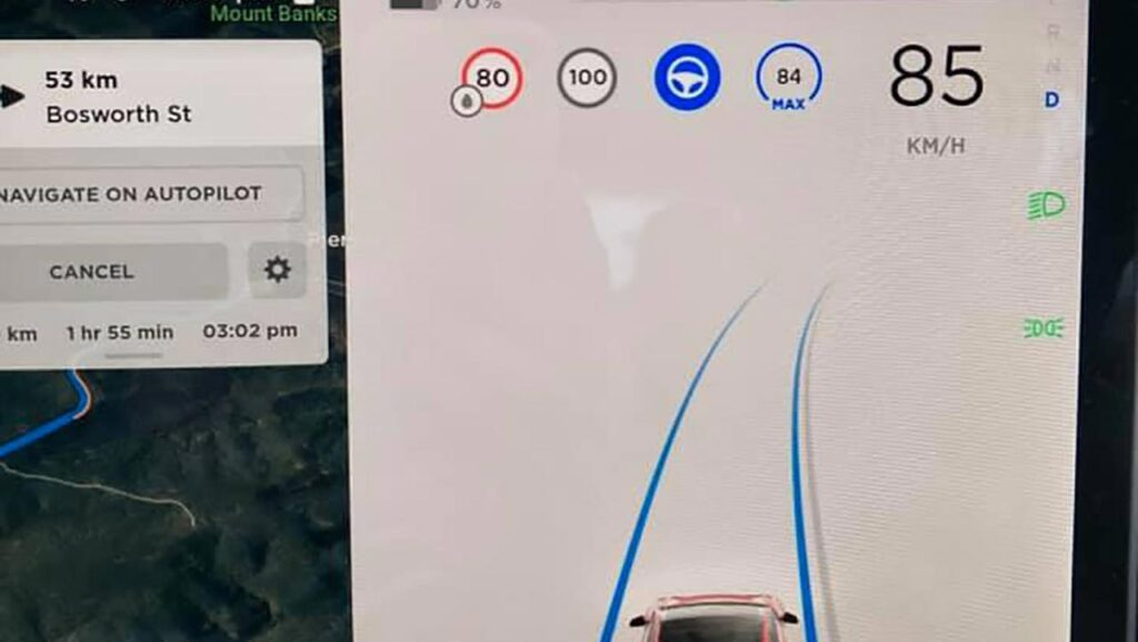 Tesla Autopilot now detects wet road conditions.