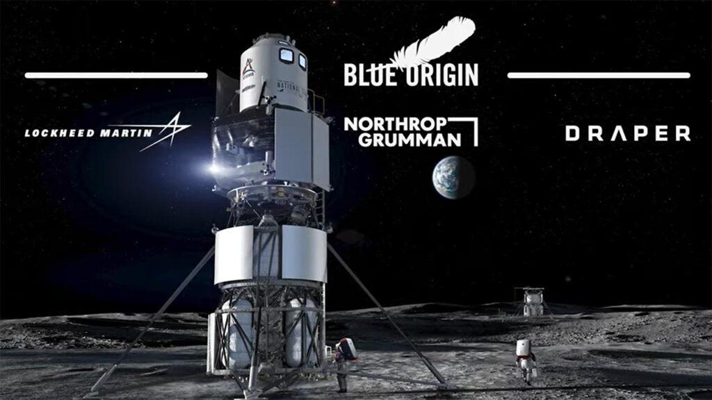 Lunar Lander mockup design by Blue Origin.