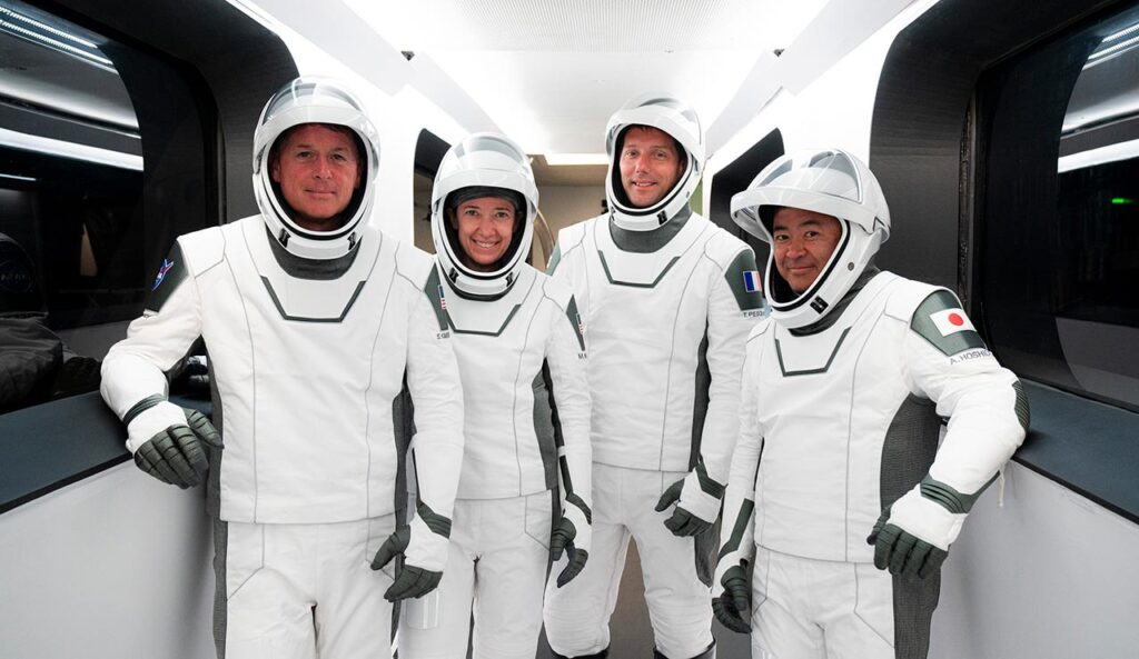 NASA Crew-2 mission astronauts.