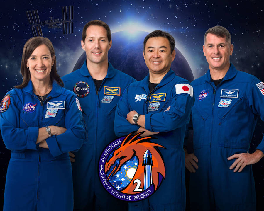 Nasa SpaceX Crew Dragon 2 astronauts in one picture.