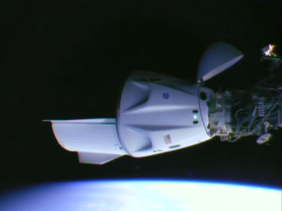 SpaceX Dragon Endeavor (C206) docked at the ISS.
