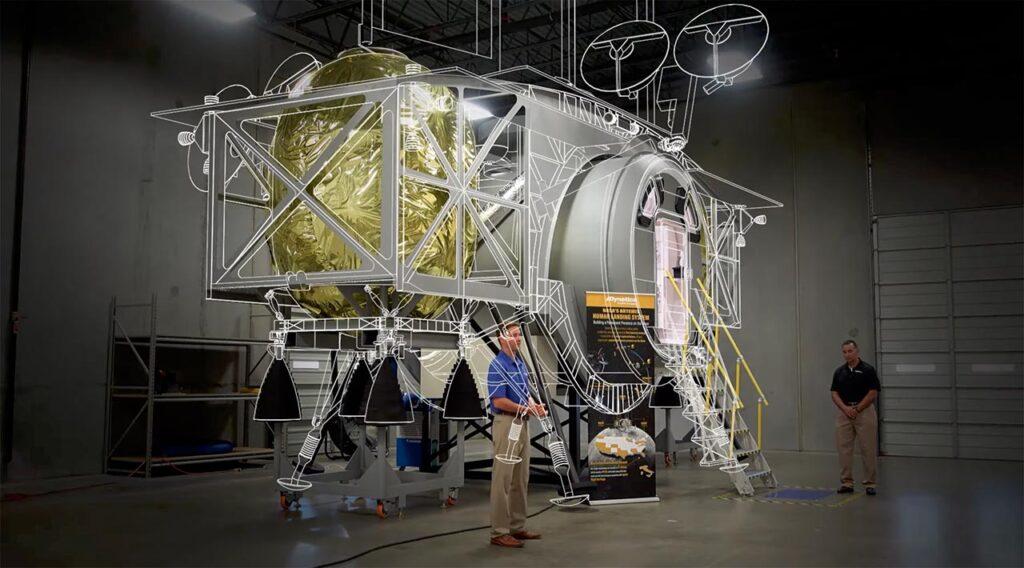 Lunar lander design concept by Dynetics.