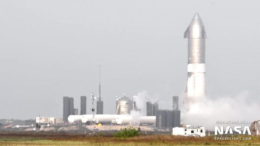 Starship SN15 undergoing cryo-proof testing.