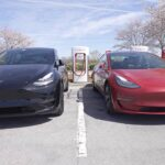 Tesla Model Y and Model 3 side-by-side.