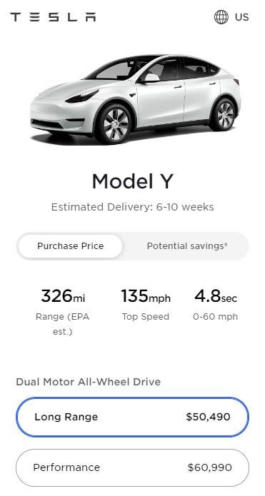Tesla Model Y prices as of April 13, 2021.