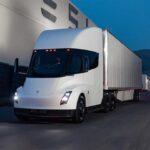 Tesla Semi Truck prototype in white color.