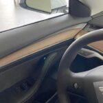 2021 Tesla Model 3 new wooden door trim.