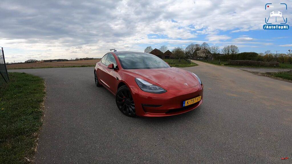 2021 Tesla Model 3 Performance tested on the German Autobahn.