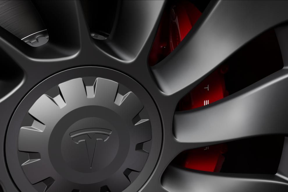 "Tesla Model 3 Performance ""Performance Brakes""."