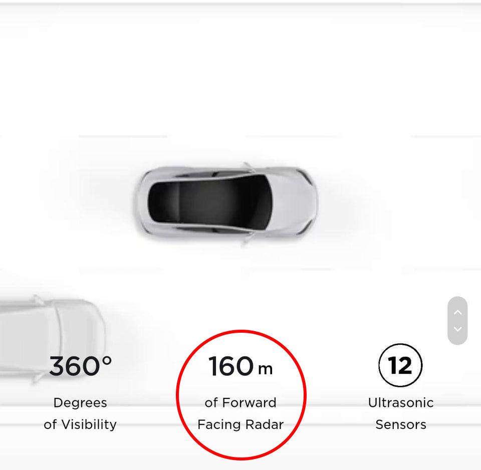 Screenshot of Tesla.com before the recent vision-based Autopilot/FSD system update.
