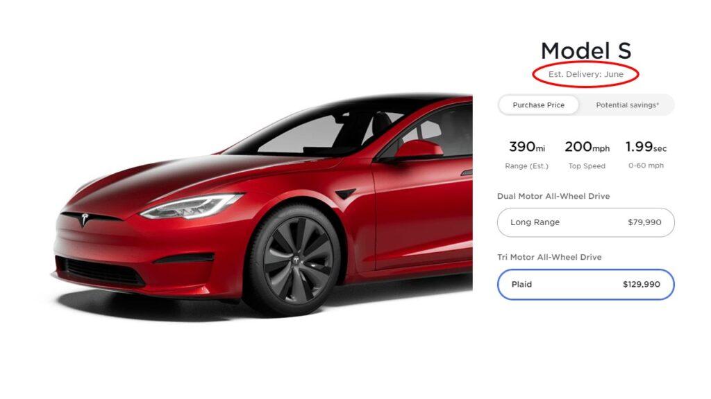 Tesla Model S Plaid price increased by $10,000.