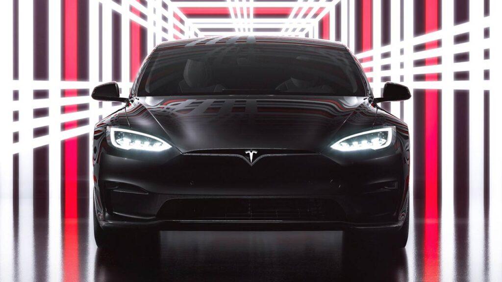 Tesla Model S Plaid event promotion image.