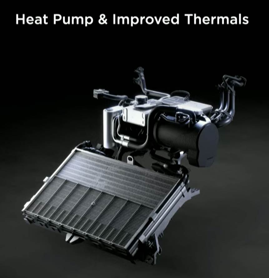 2021 Tesla Model S improved thermal system using an state-of-the-art radiator.