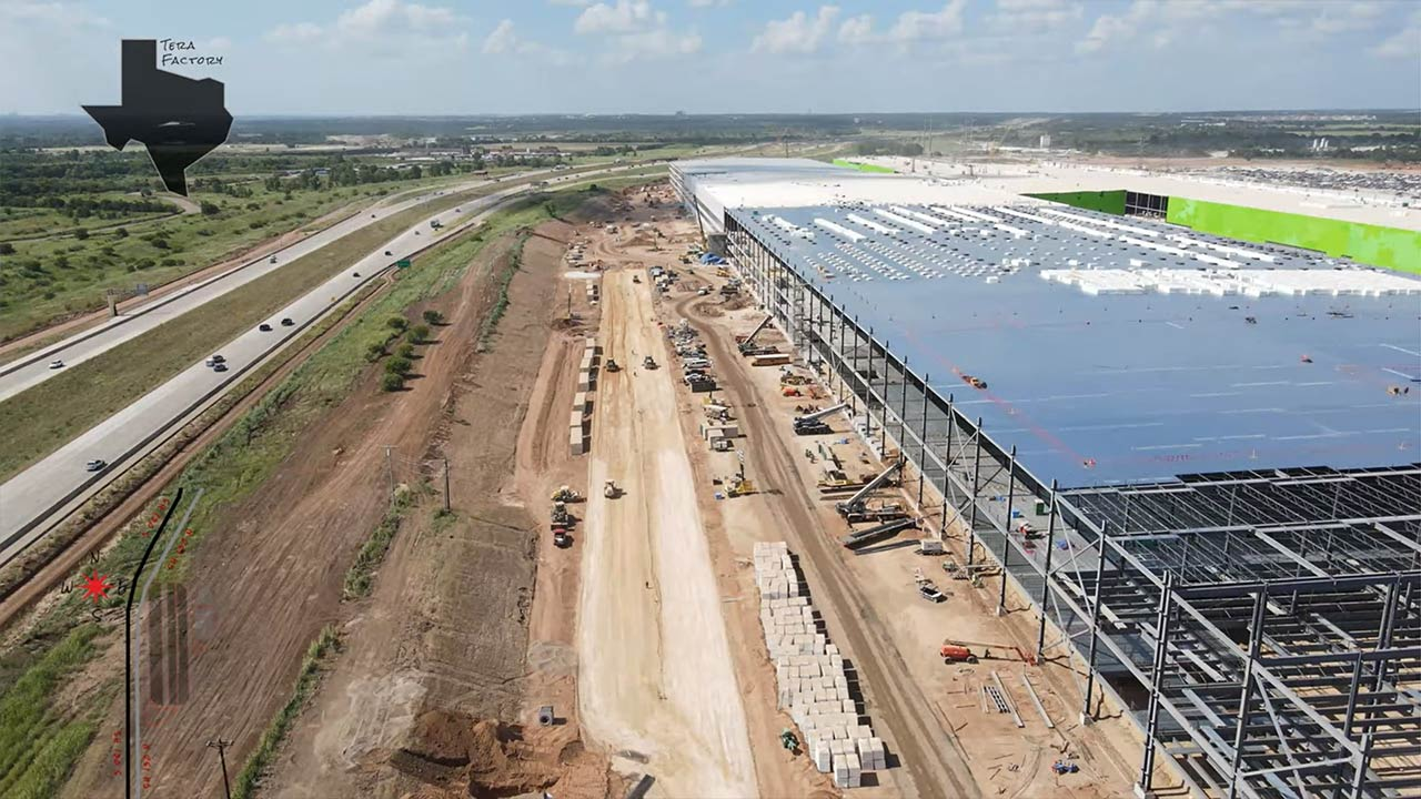 Tesla is expanding roads at the Gigafactory Texas (west side of general assembly a permanent road is being built).
