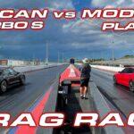 Tesla Model S Plaid vs. Porsche Taycan Turbo S drag race (video in the article).