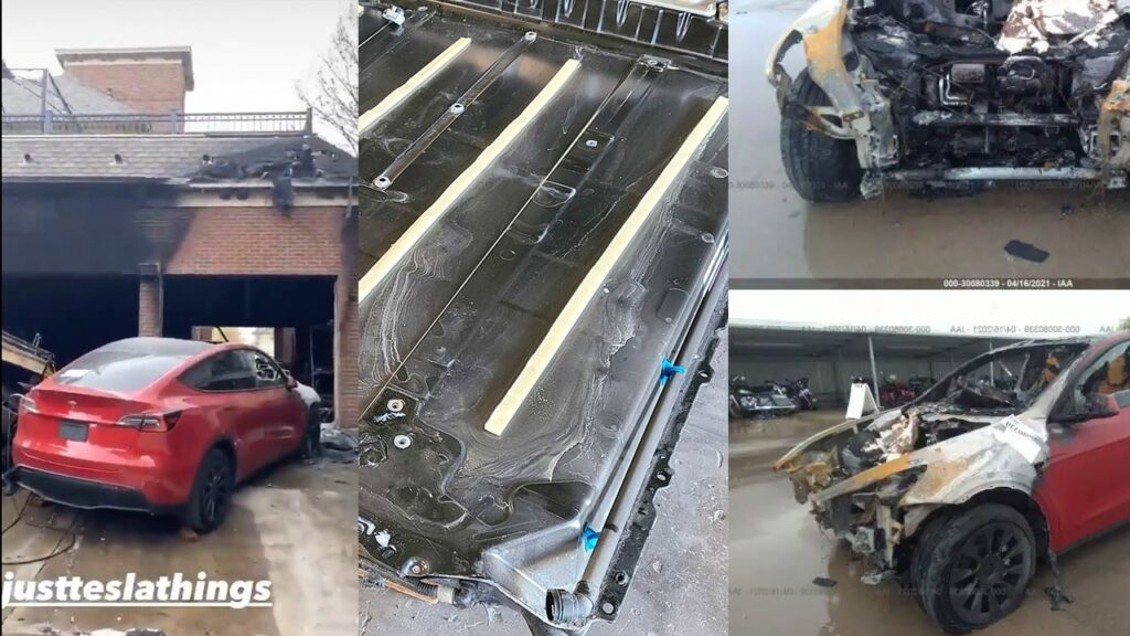 Tesla Model Y was not the cause of the Dallas, Texas fire (dashcam footage and pics in the article).