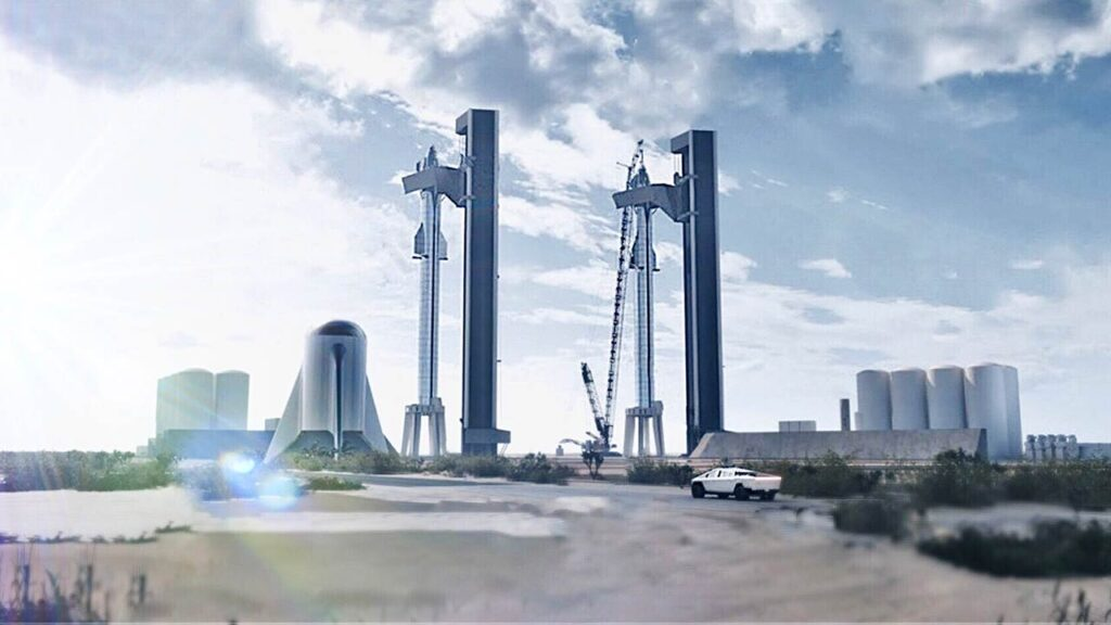 Official render of Starbase submitted to the FAA by SpaceX.