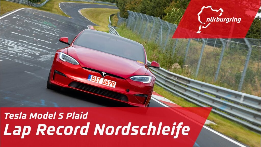 Tesla Model S Plaid record lap at the Nürburgring (video in article).