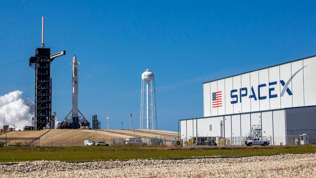 SpaceX Crew-2 Demo launch site at the Cape Canaveral Space Force Station, Florida.