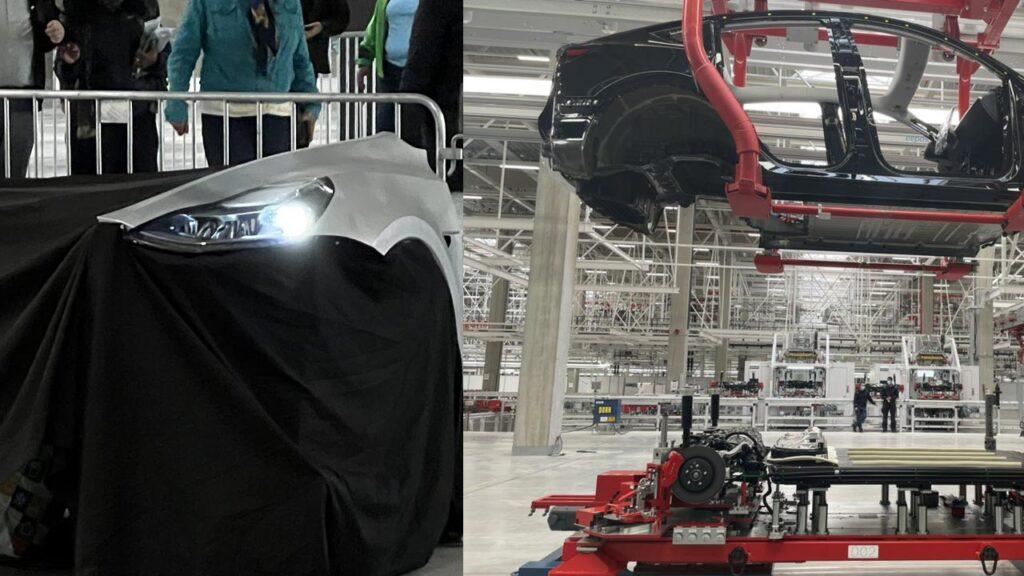 Tesla Model Y matrix LED headlights, structural battery and mega castings showcased at Giga Berlin Giga-Fest.